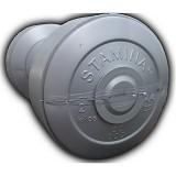 STAMINA 2x Plastic Dumbbell 2kg [ST-800-2S] - Silver - Barbell / Dumbbell